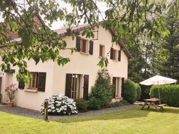 tuin vakantiehuisje la Porcherie, Liabaquet  gîtes, Sarlande